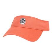 CORAL LYCEUM TWILL VISOR CORAL