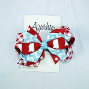 JOY SM GINGHAM CLIP BOW