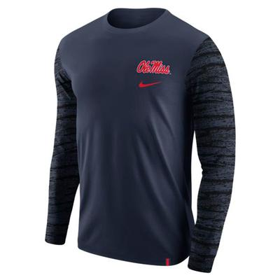 OLE MISS NIKE LS ENZYME PAT