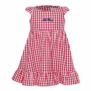 OM TODDLER GIGI GINGHAM DRESS RED