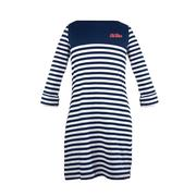 OM KRISTEN TOD STRIPE DRESS NAVY