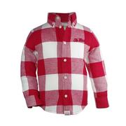 TOD NICHOLAS FLANNEL BUTTON-UP RED