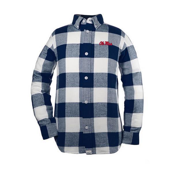 Nicholas Yth Flannel Button- Up
