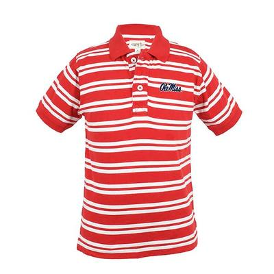 OLIVER STRIPE POLO RED_WHITE