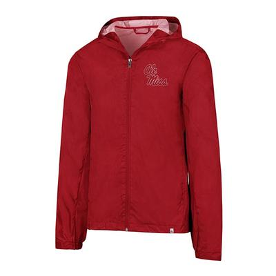 MENS FORWARD RAIN SHELL RED