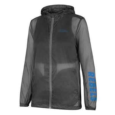 WOMENS OM PACKABLE JACKET GRAPHITE