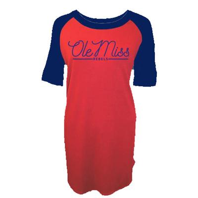 Ole Miss Piko Raglan Dress