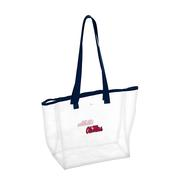 OLE MISS CLEAR STADIUM TOTE