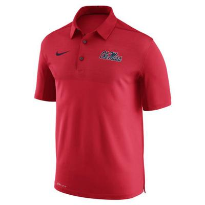 OLE MISS NIKE DRY ELITO POLO RED