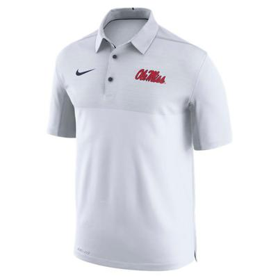 OLE MISS NIKE DRY ELITO POLO WHITE
