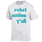 REBEL NATION YALL TEE WHITE