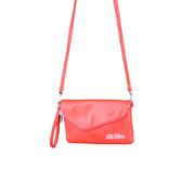 PEBBLE FOLD OVER PURSE RED