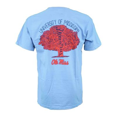 OLE MISS FAMILY TREE TEE WASHED_DENIM