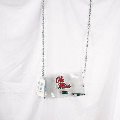 OLE MISS CLEAR ENVELOPE PURSE CLEAR