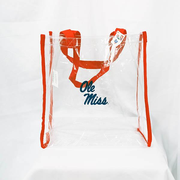 Clear Stadium Tote Red Trim