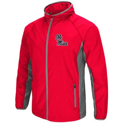 ARCHER FULL ZIP HOODED JACKET RED