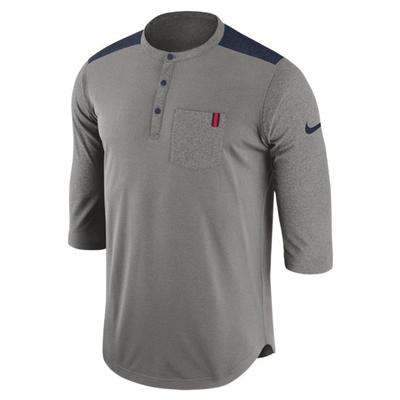 3qtr Ole Miss Dry Fit Henley