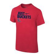 JUST BUCKETS OM TEE RED
