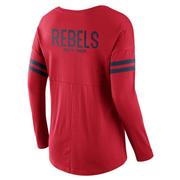 LS OLE MISS TAILGATING TOP RED