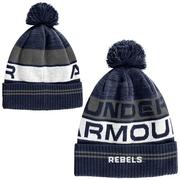 OLE MISS RETRO POM BEANIE NAVY