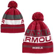 OLE MISS RETRO POM BEANIE RED