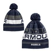 YOUTH OLE MISS RETRO POM BEANIE NAVY
