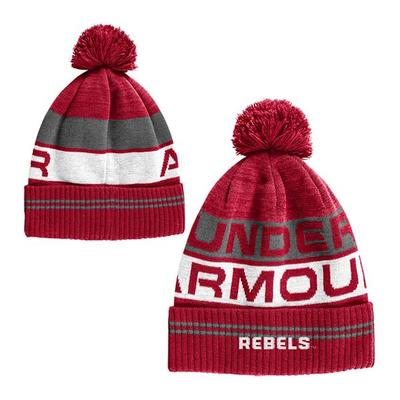 YOUTH OLE MISS RETRO POM BEANIE