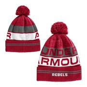 YOUTH OLE MISS RETRO POM BEANIE RED