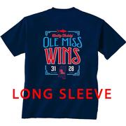 EGG BOWL VICTORY LS TEE NAVY