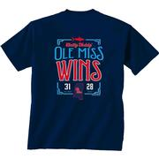 EGG BOWL VICTORY SS TEE NAVY