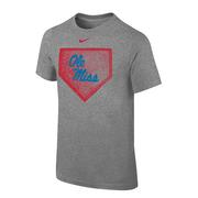 YOUTH OLE MISS HOME PLATE CORE TEE