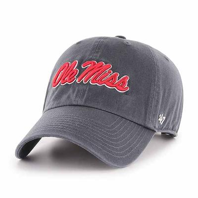 OLE MISS CLEAN UP CAP VINTAGE_NAVY