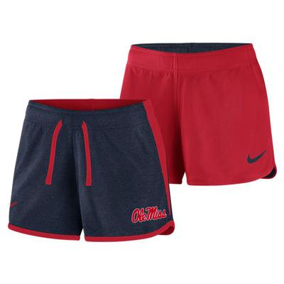 COL W NK DF TOUCH REV SHORT