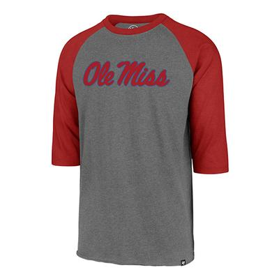 OLE MISS CLUB RAGLAN TEE RED