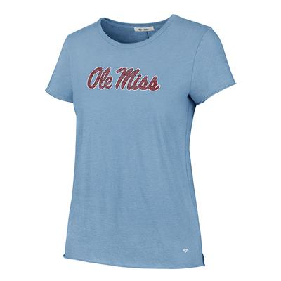 OLE MISS LETTER CREW TEE CARBON_BLUE