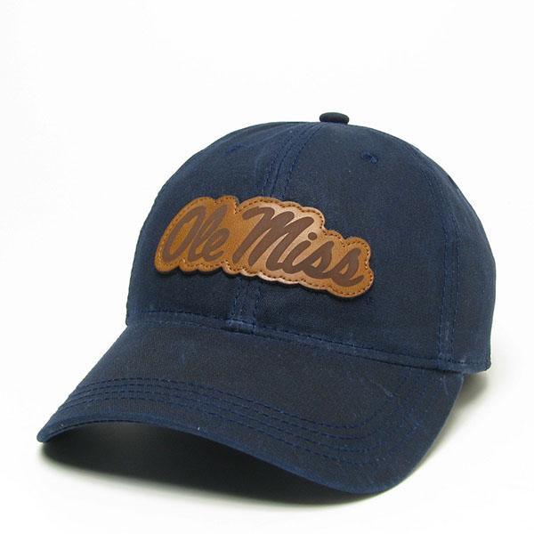 Navy Ole Miss Waxed Cotton Cap