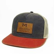 NAVY SCAR HIGH CROWN FLAT BRIM