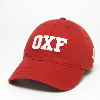 Red Oxf Relaxed Twill Cap
