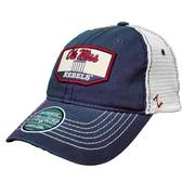 OLE MISS TRADEMARK TRUCKER CAP NAVY