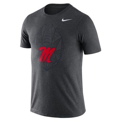 M DRY SS FOOTBALL ICON TEE CHARCOAL_HEATHER_MP5