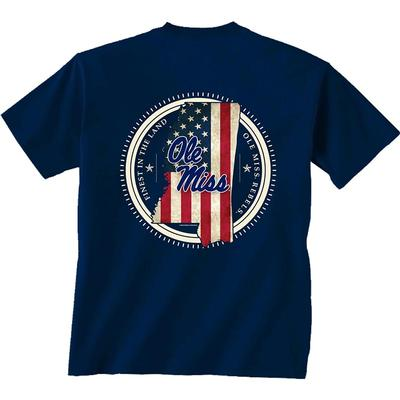 SS OLE MISS STATE PATRIOT TEE