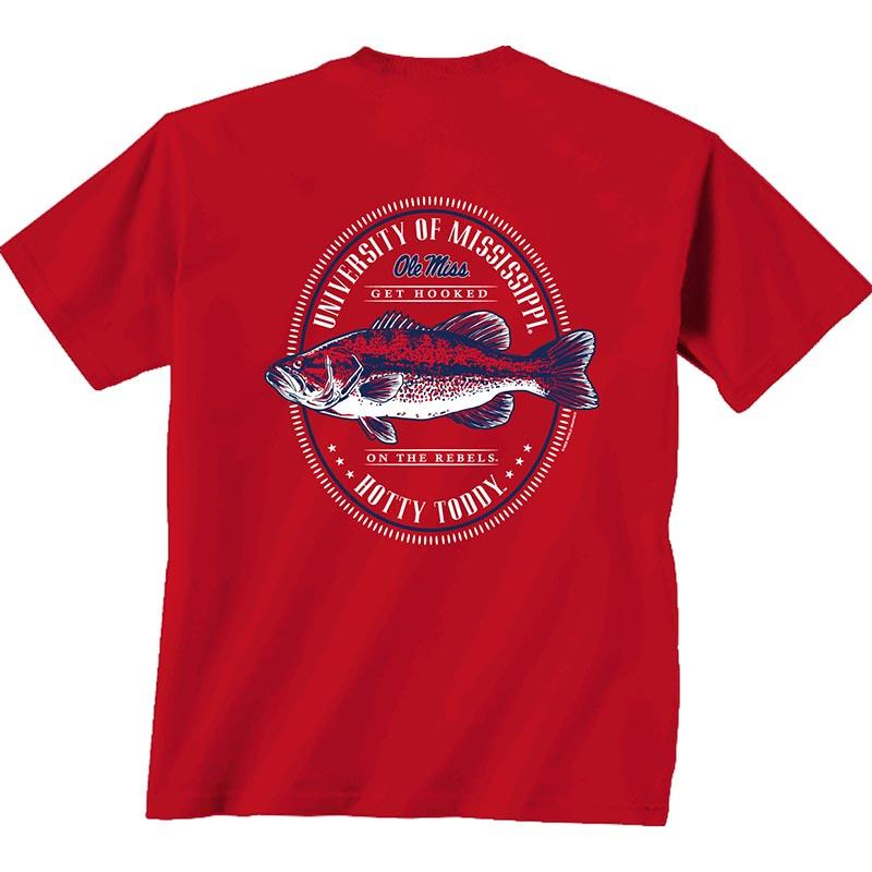 Ss Ole Miss Oval Fish Tee