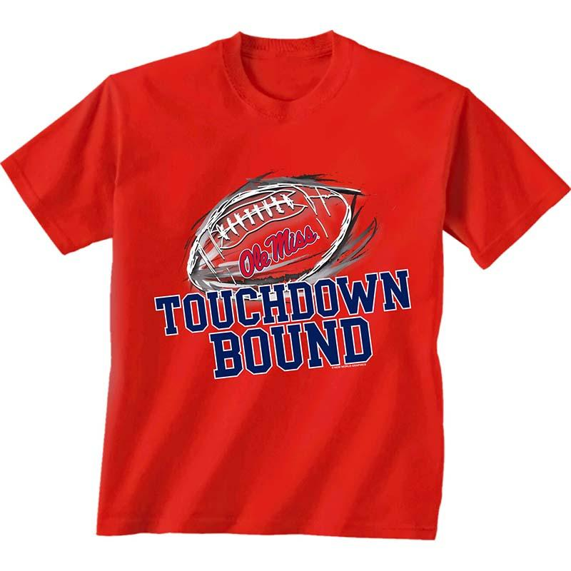Ss Yth Ole Miss Red Zone Tee