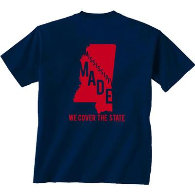 SS OLE MISS COVER STATE TEE