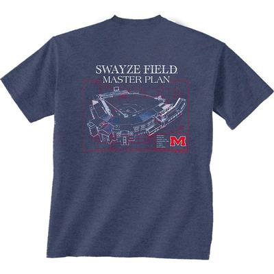 SS SWAYZE FIELD BLUEPRINT TEE NAVY