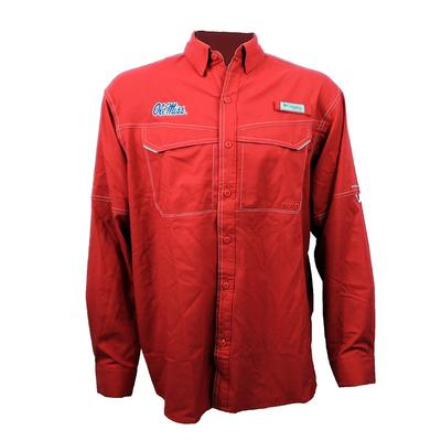 OM LOW DRAG OFFSHORE LS SHIRT INTENSE_RED