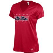 OLE MISS TECH V NECK TEE RED