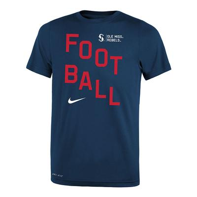 BOYS FOOTBALL LEGEND TEE NAVY