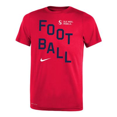 BOYS FOOTBALL LEGEND TEE RED