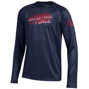 YTH LS UNSTOPPABLE TECH TEE NAVY